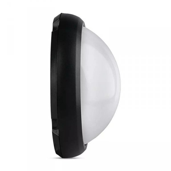 Plafon V-TAC 8W Okrągły Czarny IP66 VT-8014 6400K 560lm