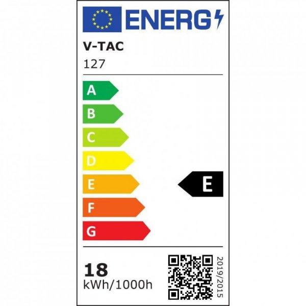 Żarówka LED V-TAC SAMSUNG CHIP 18W E27 A80 VT-298 4000K 2000lm 5 Lat Gwarancji