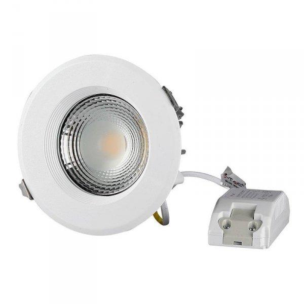 Oprawa 10W LED V-TAC COB Downlight Okrągły A++ 120lm/W VT-26101 6000K 1200lm