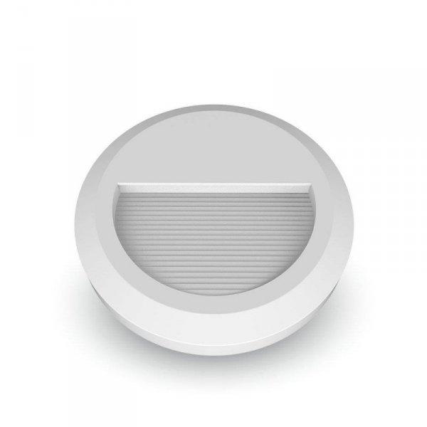 Oprawa Schodowa 2W LED V-TAC Biała Okrągła 230V IP65 VT-1142 3000K 60lm