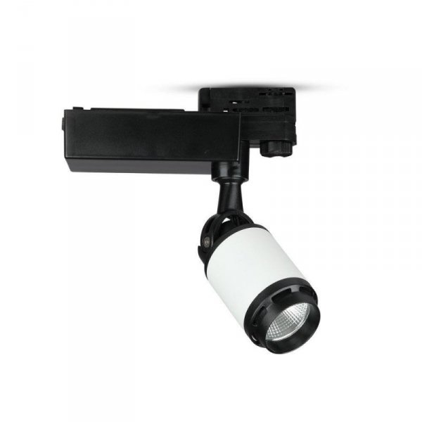 Oprawa Track Light LED V-TAC 10W 24st Czarny Biały VT-4512 4000K 800lm