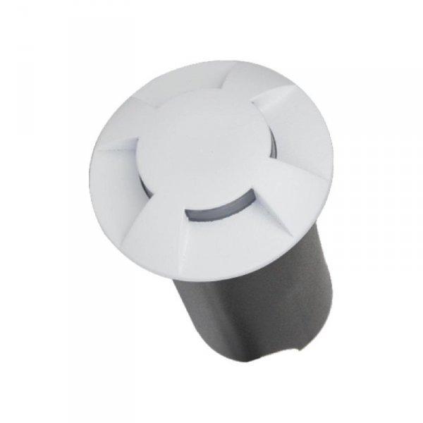 Oprawa Gruntowa 1W LED Biała 4-stronna IP67 VT-1171 6500K 10lm