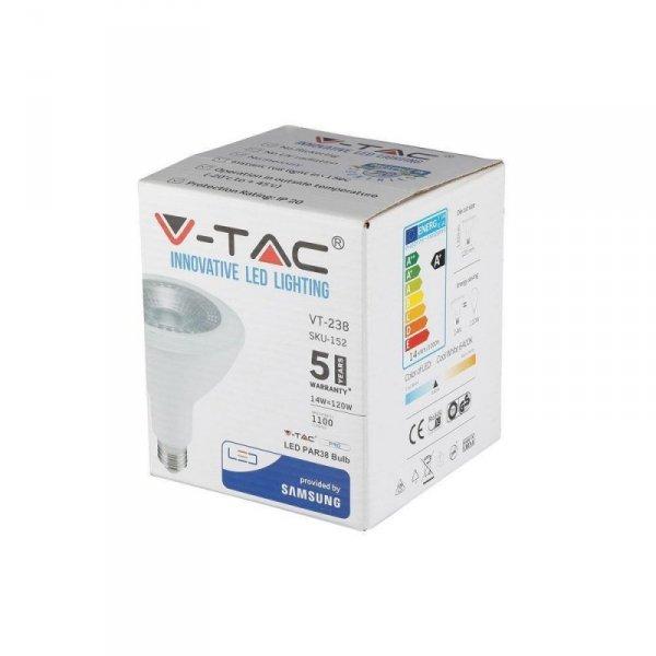 Żarówka LED V-TAC SAMSUNG CHIP 14W E27 PAR38 VT-238 4000K 1100lm 5 Lat Gwarancji