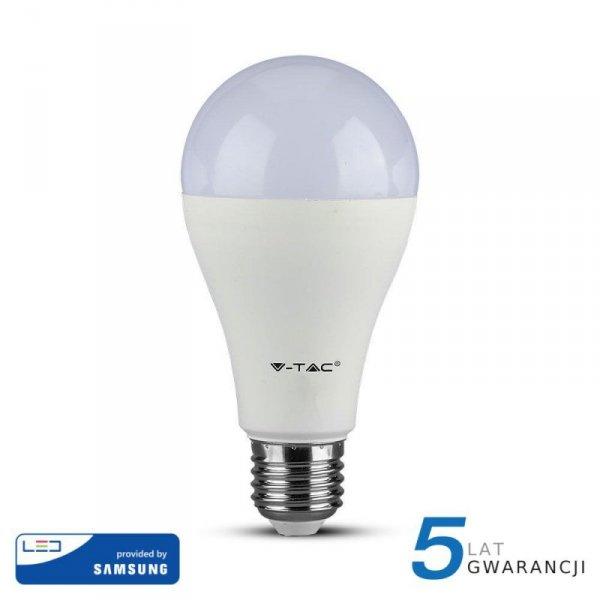 Żarówka LED V-TAC SAMSUNG CHIP 15W E27 A65 VT-215 3000K 1250lm 5 Lat Gwarancji