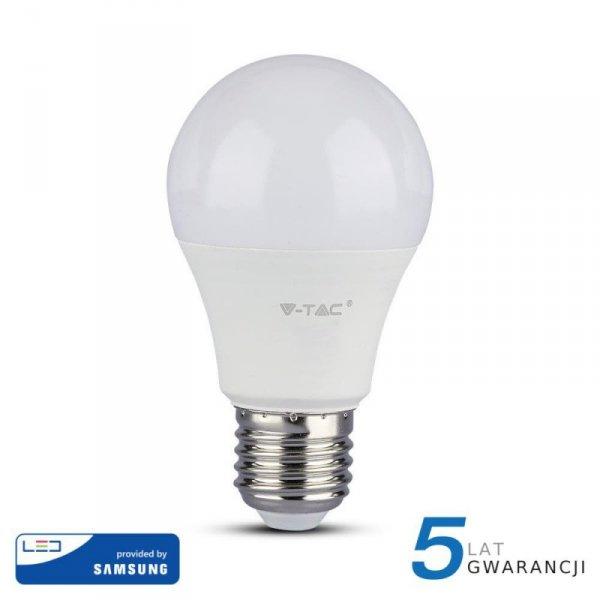 Żarówka LED V-TAC SAMSUNG CHIP 9W E27 A60 VT-210 3000K 806lm 5 Lat Gwarancji