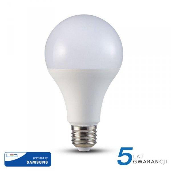 Żarówka LED V-TAC SAMSUNG CHIP 20W E27 A80 VT-233 3000K 2452lm 5 Lat Gwarancji