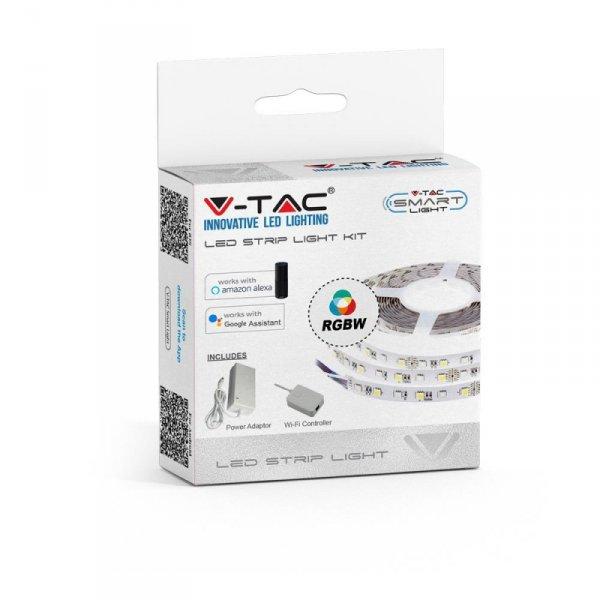 Zestaw LED V-TAC 10W 5050/60 W WiFi Controler IP20 Zestaw kompatybilny z ALEXA i GOOGLE HOME VT-5050 RGBW 1000lm