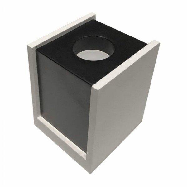 Oprawa V-TAC GIPS BETON GU10 Natynkowy Kwadrat Biały/Czarny VT-860 5 Lat Gwarancji