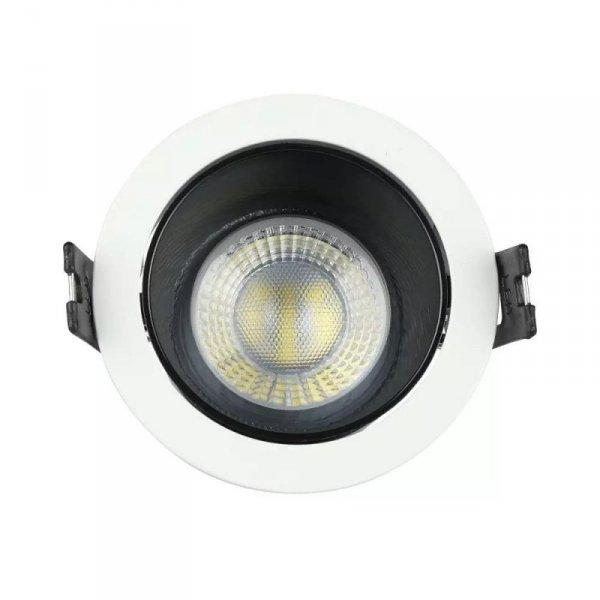 Oprawa Oczko V-TAC GU10 Wpuszczana Biały/Czarny Okrągła VT-872