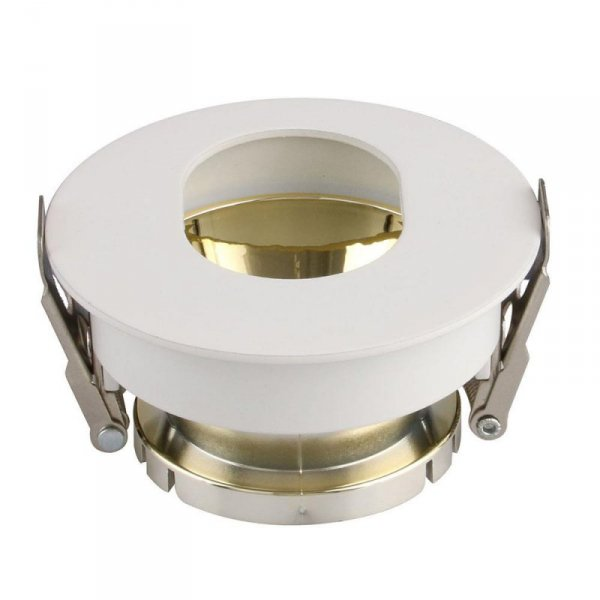 Oprawa Oczko V-TAC GU10 Asymetryczna Wpuszczana Biały/Złoty Okrągła VT-874 3 Lata Gwarancji