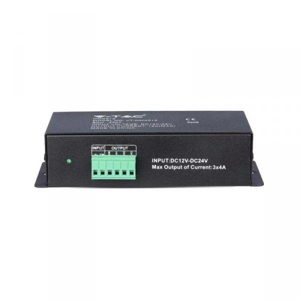 Sterownik Taśm LED DMX512 180W-360W 12V-24V V-TAC VT-DMX512