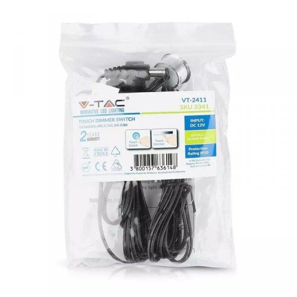 Włącznik Ściemniacz Taśm LED Dotykowy z przewodem V-TAC 12V/60W 5A VT-2411