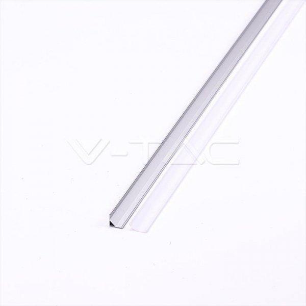 Profil Aluminiowy V-TAC 2000x15.8x15.8mm Klosz Mleczny VT-8109