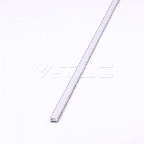 Profil Aluminiowy V-TAC 2mb Anodowany, Klosz Mleczny VT-8113