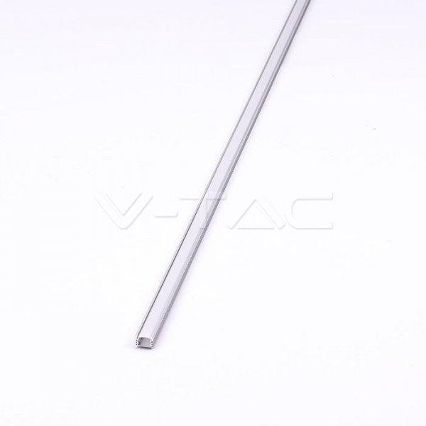 Profil Aluminiowy V-TAC 2000x17.4x12.1mm Klosz Mleczny VT-8116
