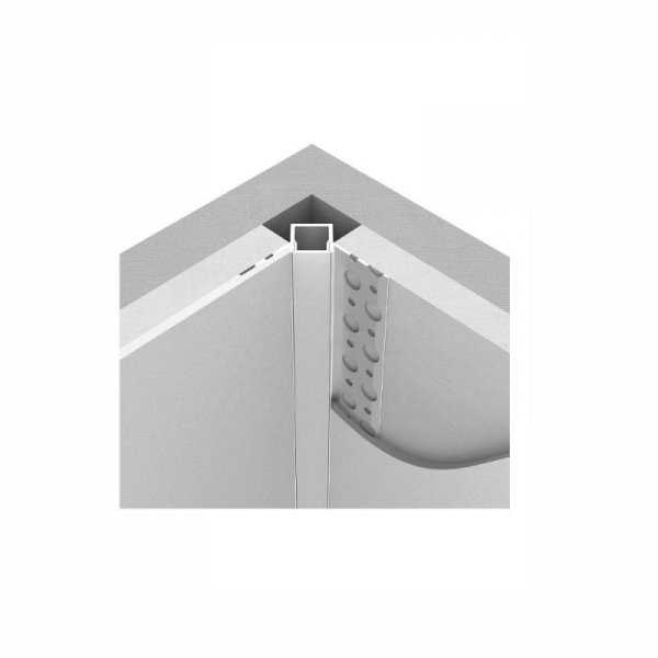 Profil Aluminiowy V-TAC 2mb Anodowany, Klosz Mleczny, Do gipsowania, Narożny wewnętrzny VT-8104
