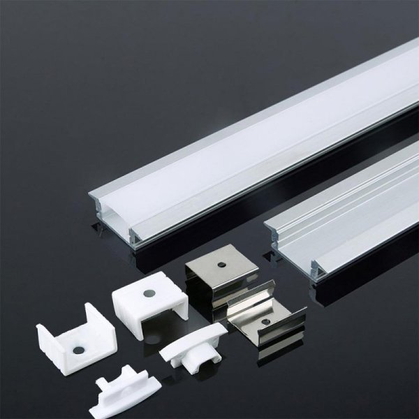 Profil Aluminiowy V-TAC 2mb Biały, Klosz Mleczny, Wpuszczany VT-8122 5 Lat Gwarancji