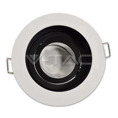 Oprawa Oczko V-TAC Aluminiowa GU10 Okrągła Biała/Czarna VT-781