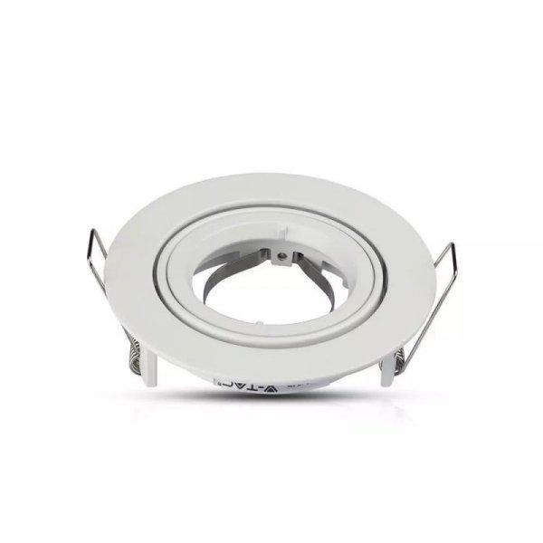Oprawa Oczko V-TAC Aluminiowa Odlew GU10 Okrągła Ruchoma Biały VT-775