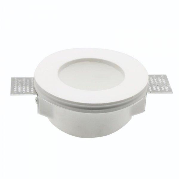 Oprawa Oczko V-TAC GIPS GU10 Wpuszczana Szkło Mrożone Okrągła fi.120 Biała VT-801