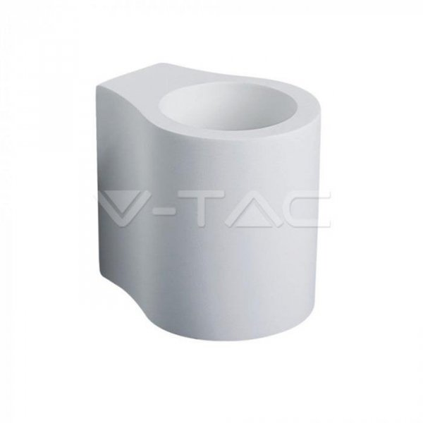 Kinkiet Ścienny Okrągły GIPS G9 Biały V-TAC VT-858