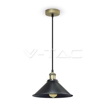 Oprawa Wisząca V-TAC Vintage Metal Czarny VT-7424 5 Lat Gwarancji