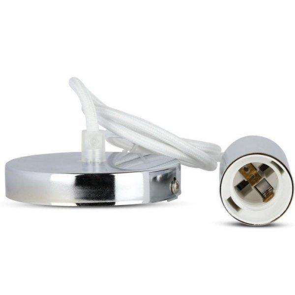 Oprawa Wisząca V-TAC Chrom Metal Biały przewód VT-7338 5 Lat Gwarancji
