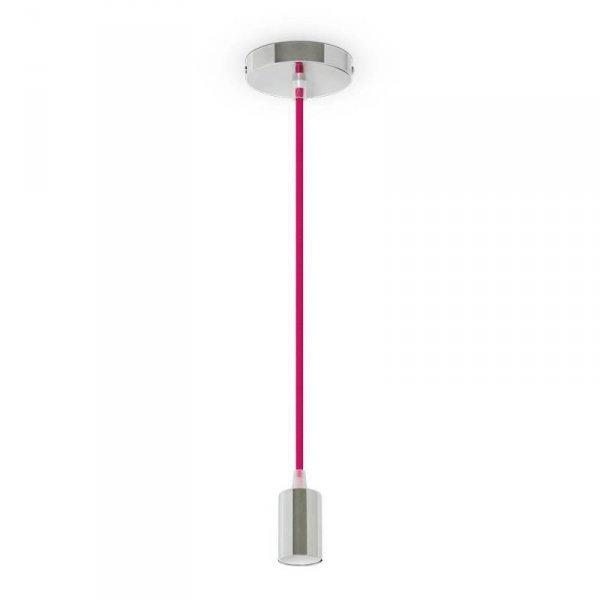 Oprawa Wisząca V-TAC Chrom Metal Ciemny Róż przewód VT-7338 5 Lat Gwarancji