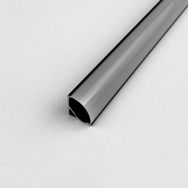 Profil LP-C czarny narożny 1m kpl. klosz zaślepki uchwyty