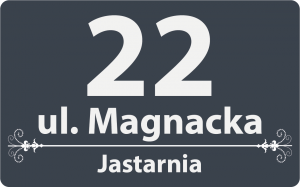 Numer na dom 40/25 cm (odblask)