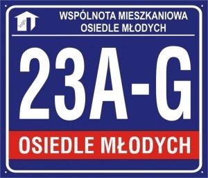 Tablica dla bloków mieszkalnych 70 cm x 60 cm