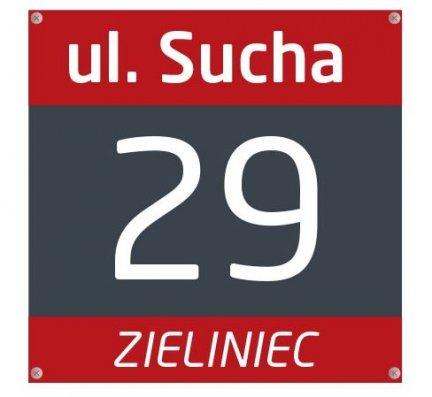Tabliczka z numerem domu 25/25cm (odblask)