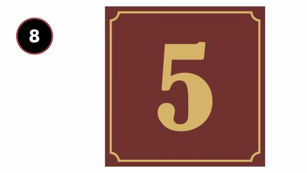 Tabliczka z numerem domu 20/20cm
