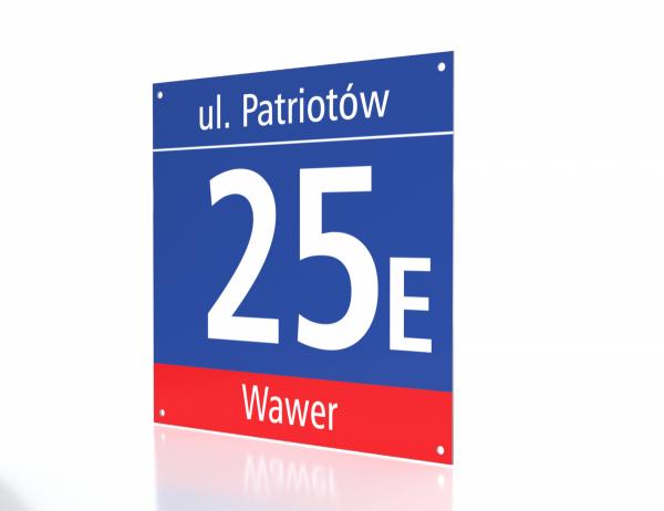 Tablica z numerem Warszawa 35cm x 35cm
