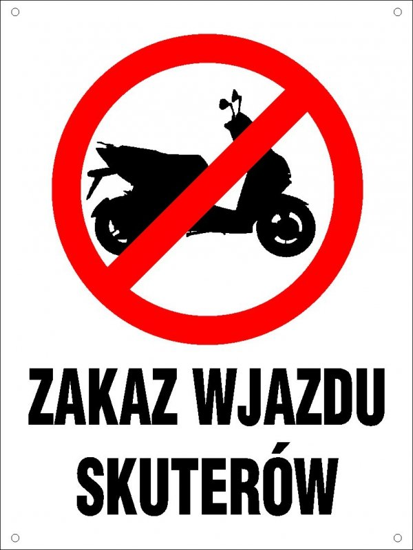 Zakaz wjazdu skuterów