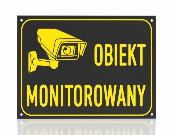 Tablica obiekt monitorowany 42/29,7cm (odblask)