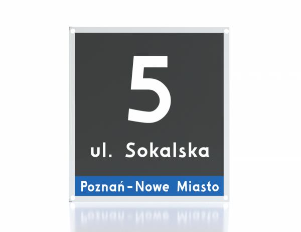 Tablica z numerem domu Poznań 23/25cm