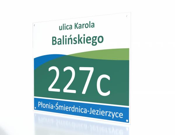 Tablica adresowa Szczecin 40,5/33cm