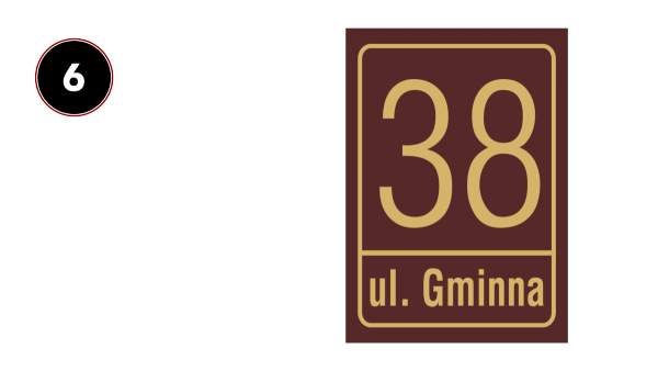 Tablica adresowa na dom