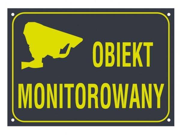 Tablica obiekt monitorowany 21/14,8cm (odblask)