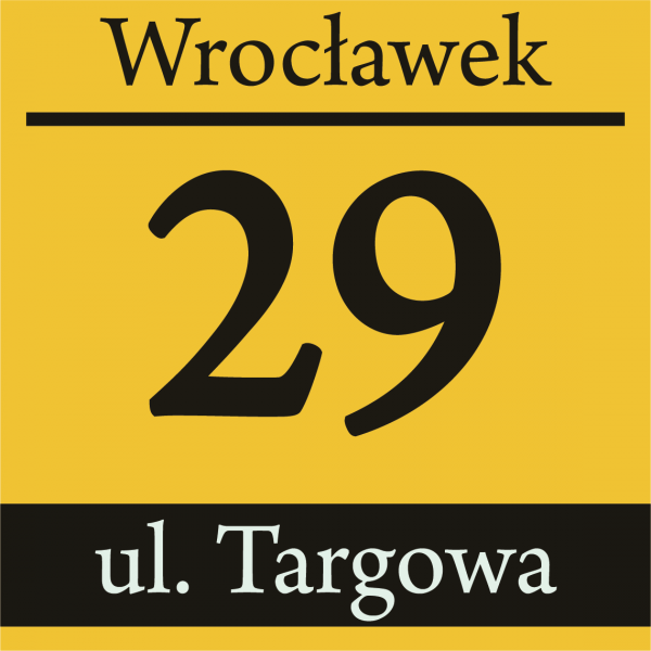 Tablica z numerem domu 25/25cm