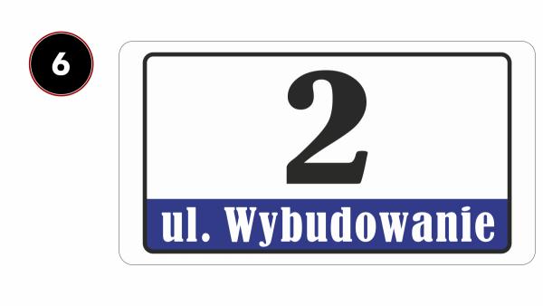 Tablica z numerem domu 40/21,4cm