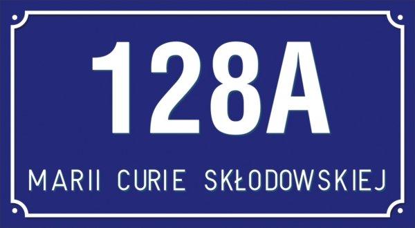 Tabliczka adresowa 40 cm x 22 cm (tłoczona)