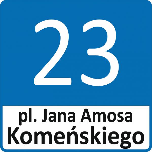 Tablica z numerem domu Leszno 30/30cm