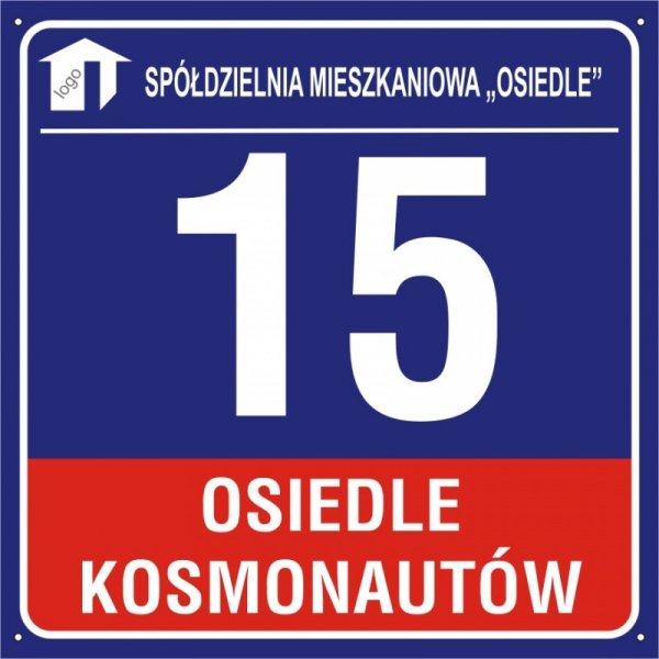 Tablica dla bloków mieszkalnych 60 cm x 60 cm