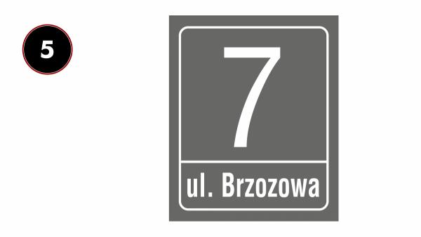 Tablica z numerem na dom 30,5/37cm