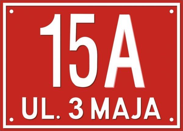 Tabliczka adresowa 25 cm x 18 cm (tłoczona)