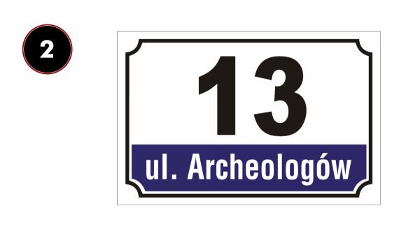 Tabliczka adresowa z numerem