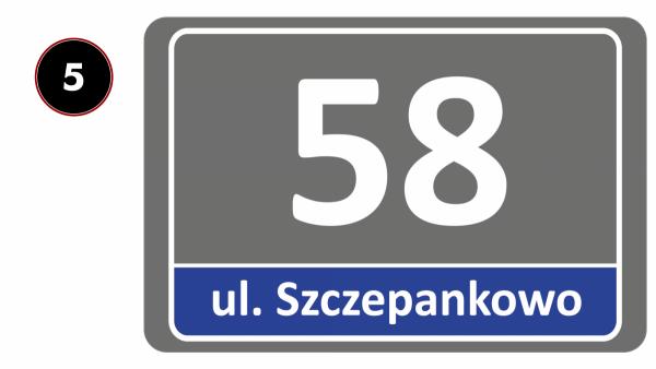 Tabliczka adresowa odblaskowa 30/20cm