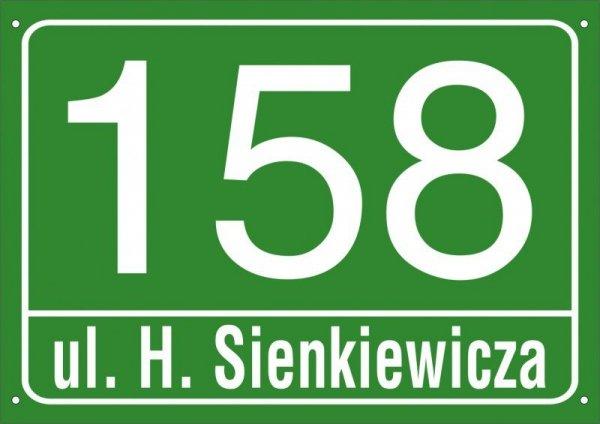 Tabliczka adresowa 42 cm x 29,7 cm (odblask)